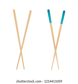 Asian eating sticks. Bamboo chinese food chopstick