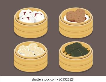 Asian food - Dim sum in Steamer