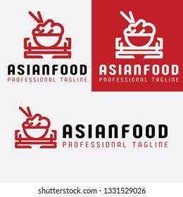 Asian Food Restaurant Logo
