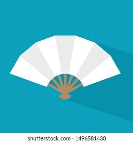 asian hand fan icon- vector illustration