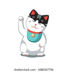Asian Japanese Chinese cat souvenir toy luck symbol Maneki