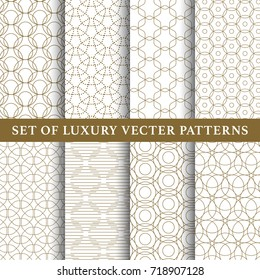 Asian luxury vector patterns pack