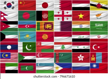 asian national flags