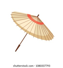 Asian oriental traditional umbrella light beige japan geisha symbol