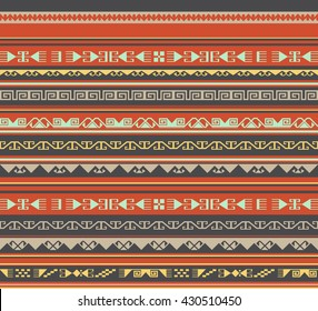 Asian ornaments. Seamless background. Historically ornamental of nomadic east people. It based on real Kazakh art.