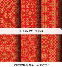 Asian Pattern, Asian Background Vector Design