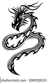 Asian Style. Serpent fantasy dragon.