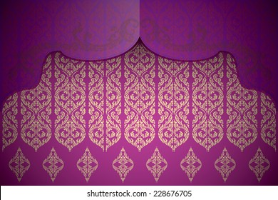 Asian traditional art Design Vector, Thai traditional design, thai background