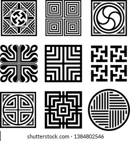 Asian traditional symbol vector image