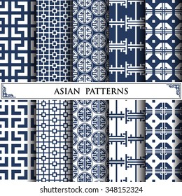Asian vector pattern,pattern fills, web page background,surface textures