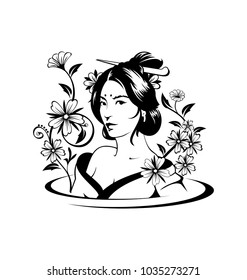 Asian Woman Art Vector