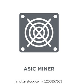 asic miner icon. asic miner design concept from Electronic devices collection. Simple element vector illustration on white background.