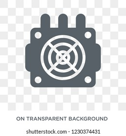asic miner icon. Trendy flat vector asic miner icon on transparent background from Electronic devices collection.