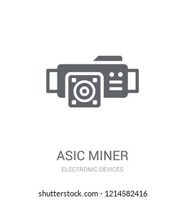 asic miner icon. Trendy asic miner logo concept on white background from Electronic Devices collection. Suitable for use on web apps, mobile apps and print media.