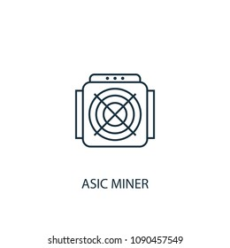 ASIC Miner Line icon. Simple element illustration. ASIC Miner symbol design from Cryptocurrency collection. Can be used in web and mobile.