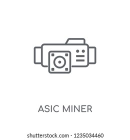asic miner linear icon. Modern outline asic miner logo concept on white background from Electronic Devices collection. Suitable for use on web apps, mobile apps and print media.