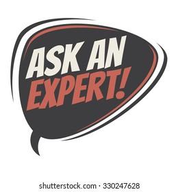 ask an expert retro speech bubble
