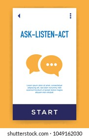 Ask - Listen - Act Icon