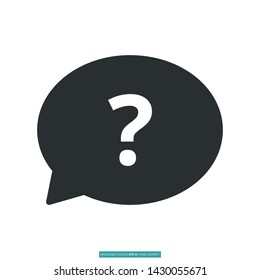 Ask Me Icon Vector Illustration Logo Template
