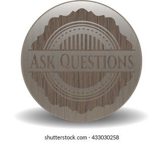 Ask Questions wood emblem