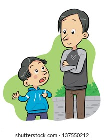 Father Son Clipart Images, Stock Photos & Vectors | Shutterstock