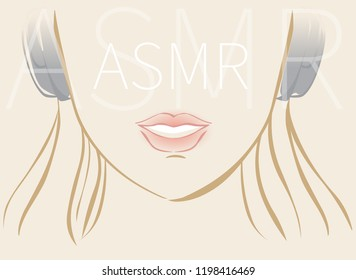 ASMR effect. Vector hand drawn illustration