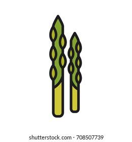 Asparagus. Vector icon
