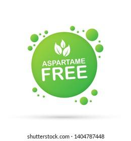 Aspartame free grunge on white background, vector stock illustration