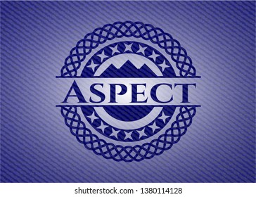 Aspect emblem with jean high quality background