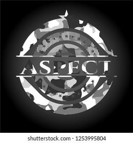 Aspect grey camouflage emblem
