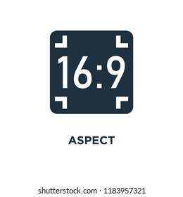 Aspect icon. Black filled vector illustration. Aspect symbol on white background. Can be used in web and mobile.
