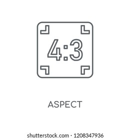 Aspect linear icon. Aspect concept stroke symbol design. Thin graphic elements vector illustration, outline pattern on a white background, eps 10.