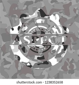 Aspect on grey camouflage pattern
