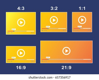 The aspect ratio scale size responsive video player