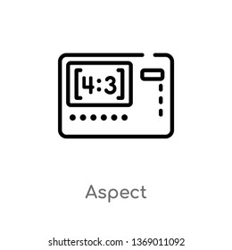 aspect vector line icon. Simple element illustration. aspect outline icon from photography concept. Can be used for web and mobile