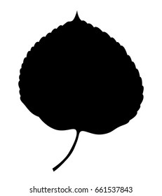 Aspen leaf, vector icon. Isolated on white background.