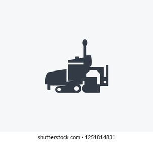 Asphalt paver icon isolated on clean background. Asphalt paver icon concept drawing icon in modern style. Vector illustration for your web mobile logo app UI design.
