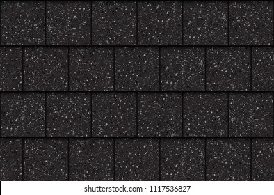 Asphalt roof shingles, seamless pattern. Squares, vector illustration
