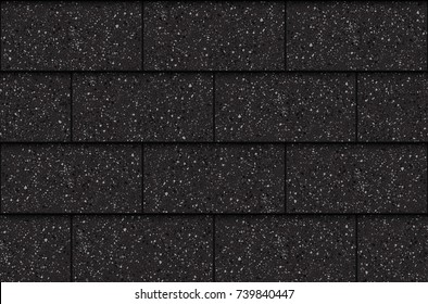 Asphalt roof shingles, seamless pattern, rectangles, vector illustration