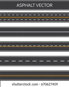 Asphalt, a set of road types with markings.