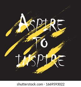 Lassen Sie sich inspirieren für die Anwendung auf T-Shirts. Stilvolles und modernes Design für den Druck von Kleidung und Sachen. Inspirationsfrage. Motivationsaufruf für die Platzierung auf Vinyl-Aufklebern.