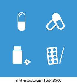 Aspirin icon. collection of 4 aspirin filled icons such as paints, medicine. editable aspirin icons for web and mobile.