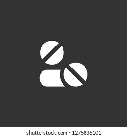 aspirin icon vector. aspirin vector graphic illustration