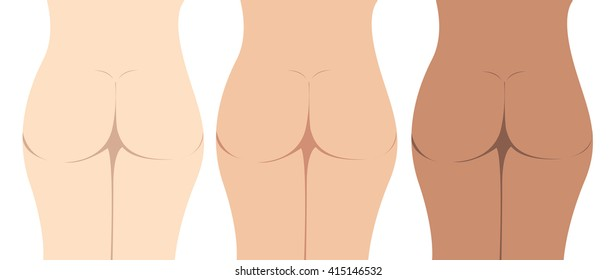 ass cartoon vector