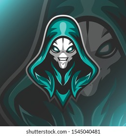 Assasins Alien Logo Mascot Vector Illustration