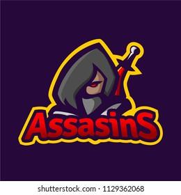 Assasins mascot logo template