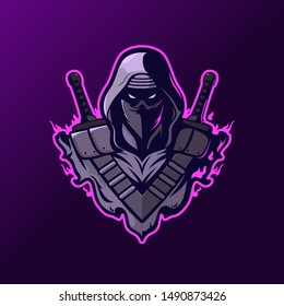 Assassin with two swords for Logo ESport Gaming