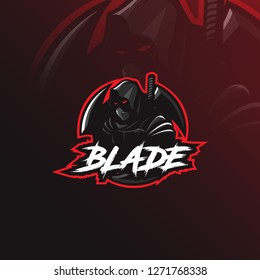 assassin vector logo design mascot with modern illustration concept style for badge, emblem and tshirt printing. angry assasin illustration.
