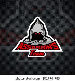 Assassin's Team logo template.