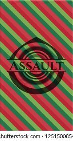 Assault christmas emblem.